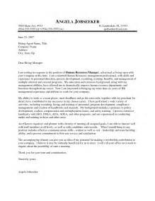 Human Resource Cover Letter Sle by Cover Letter And Resume Heading