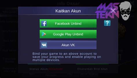 fb mobile legend cara ganti akun mobile legends di android dengan mudah