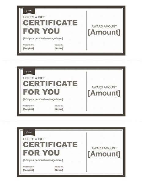 black and white gift certificate template free black and white gift certificate template template for