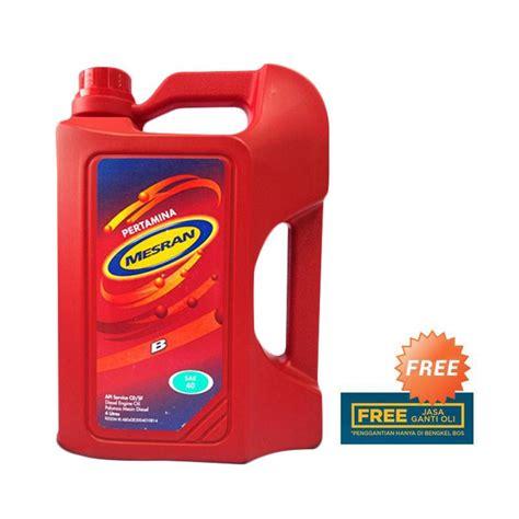 Pelumas Mesran Jual Pertamina Mesran B40 Oli Pelumas Mobil 4 Liter