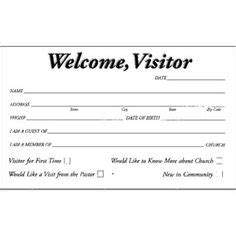 Church Visitor Card Template Downloads by This Visitor Card Click The Link Below Church