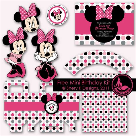 8 best images of minnie mouse party ideas printable