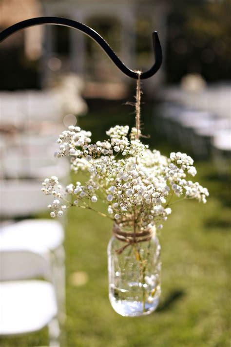 Wedding Aisle Jars by Jar Baby S Breath Aisle Decoration