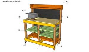 Potters Bench Plans Potting Bench Plans With Sink Free Garden Plans How To
