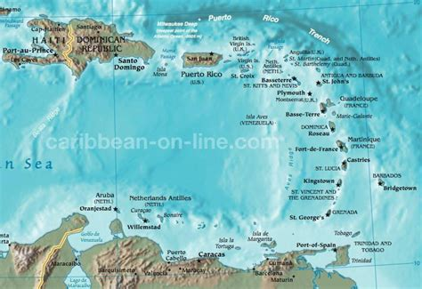 map of eastern us and caribbean eastern caribbean map