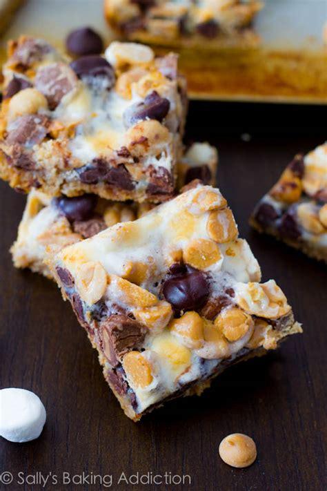 peanut butter 7 layer bars s mores rice krispie treats sallys baking addiction
