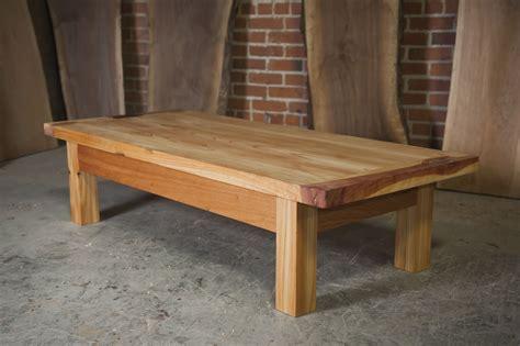 Handmade Cedar Furniture - custom three cedar outdoor coffee table by the nico