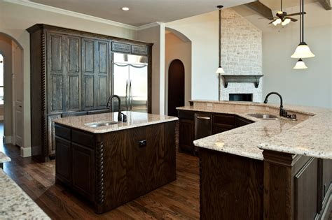 kitchens with bars and islands kitchen double island double breakfast bar in