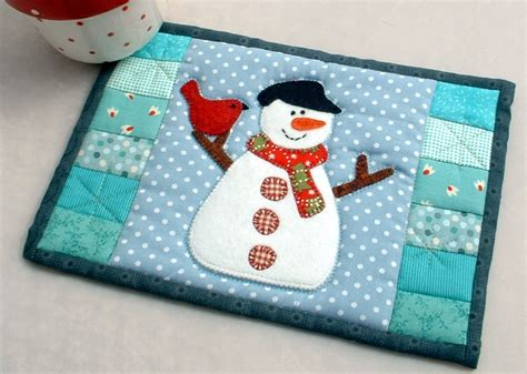 snowman mug rug the patchsmith patchsmith mug rugs