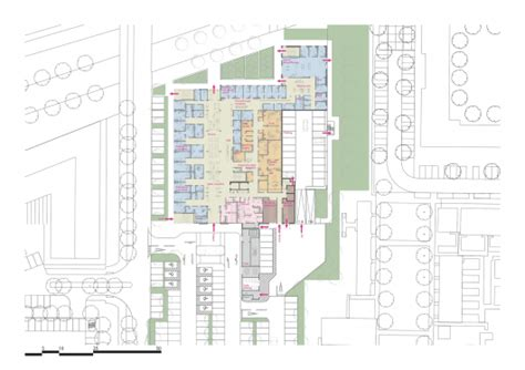 reading a floor plan circle reading hospital brydenwood archdaily