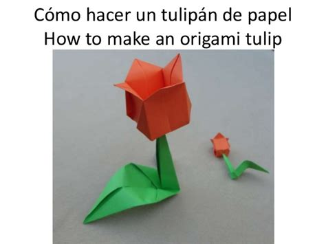How To Make An Origami Tulip - c 243 mo hacer un tulip 225 n de papel how to make an origami tulip