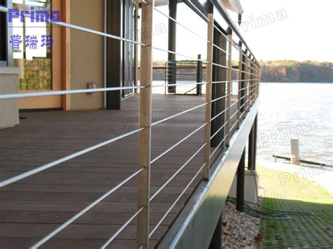 Pool Handrail Installation Outdoor Stainless Steel Balcony Railing Design With Wooden