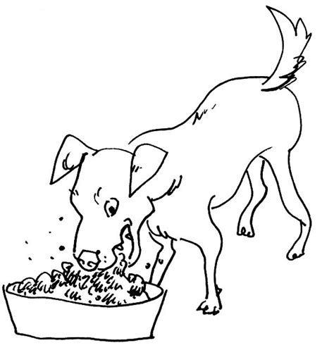 dog treat coloring page dog eating clipart cliparts galleries