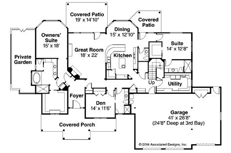 craftsman home floor plans craftsman house plans cedar creek 30 916 associated