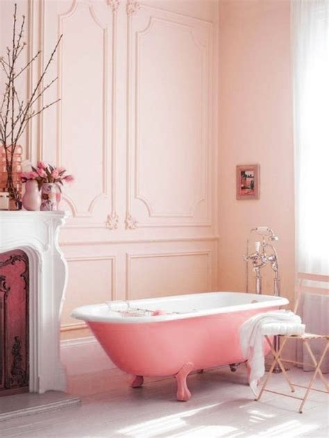 pink bathtub how to decorate a pink bathroom