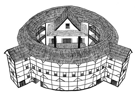 The Globe Theatre Outline by Shakespeare S Globe Theatre Pen Drawing By Mich Flickr