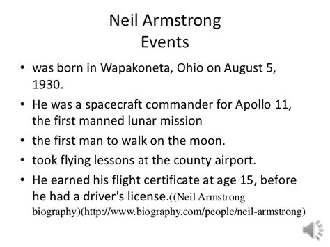 biography facts about neil armstrong neil armstrong timeline of his life page 4 pics about