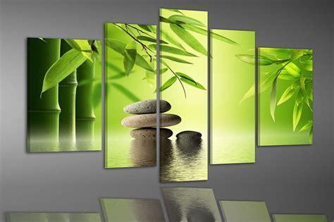 bambus le bambus und steine im wasser farbe 1 leinwanddruck zen