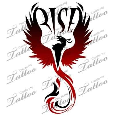 phoenix rising from the ashes tattoo and black rising from the ashes design
