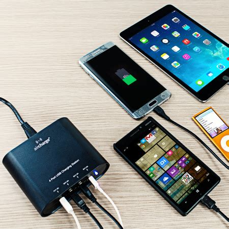 mobile p hub aircharge 4 usb charging hub