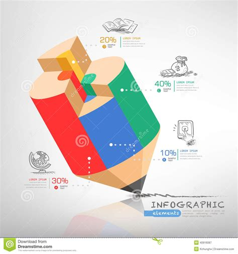 Business Education Pencil Infographics Stock Vector Illustration Of Graphic Money 40916087 Creative Graphic Design Layout Templates