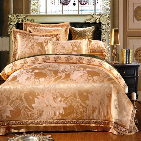 sale jacquard silk cotton luxury bedding set king size