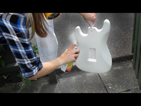 spray paint your guitar guitar project part 5 spray painting