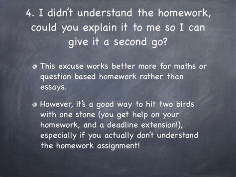 Excuse Letter Not Doing Homework 10 Excuses For Not Doing Your Homework