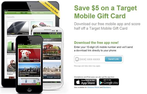 5 For 10 Target Gift Card - 10 target mobile gift card for 5 from groupon who said nothing in life is free