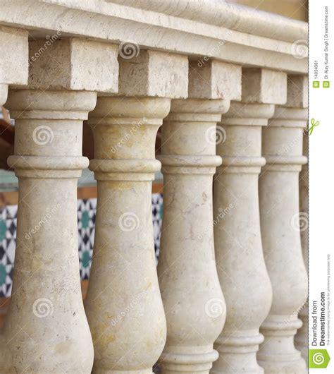 Small Columns Small Columns Design Along Verandah At Shallow Dof Stock