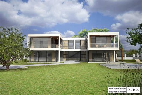 4 Bedroom Modern House Plans modern glass house design id 24506 house plans by maramani