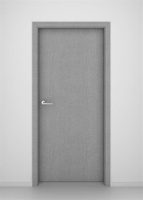 Gray Interior Doors Grey Oak Flush Vertical Interior Door