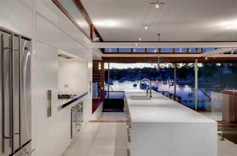 waterfront home kitchen design modern waterfront home in sydney australia