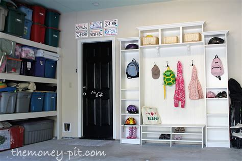Garage Organization Mudroom Garage And Mudroom Reveal The Six Fix