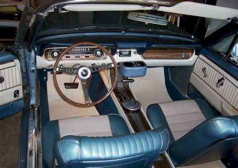 65 Mustang Upholstery by Silver Blue 1965 Ford Mustang Convertible