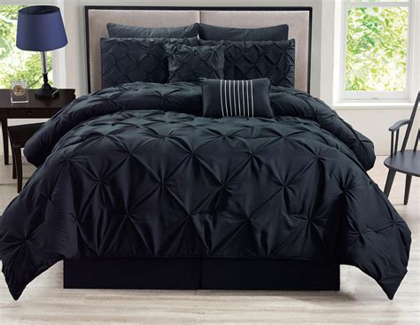 8 piece rochelle pinched pleat gray comforter set ebay