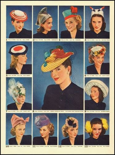 How To Make A 1940 Style Hat   1940s hats history 20 popular women s hat styles