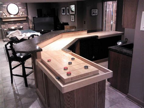 this shuffleboard bar was built with angles the bank