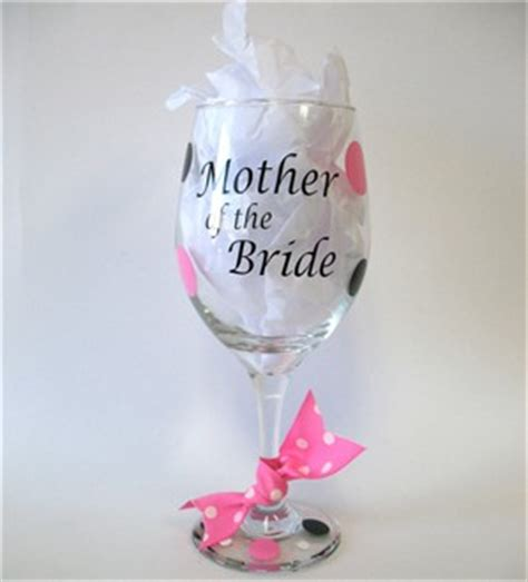 personalized barware glasses personalized mother of the bride wine glass personalized