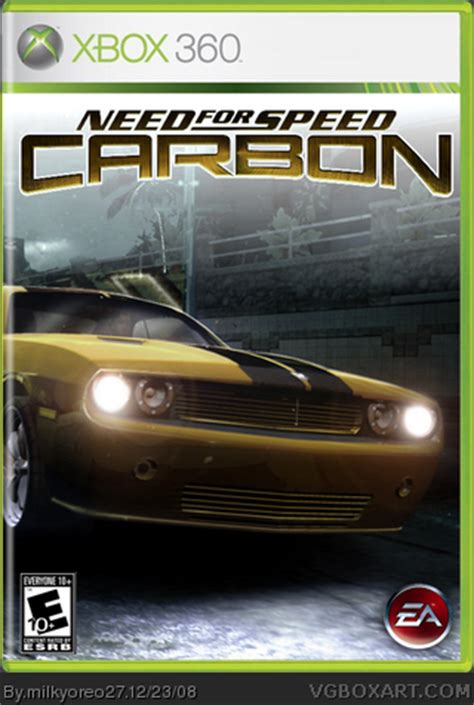 need for speed: carbon xbox 360 box art cover by milkyoreo27