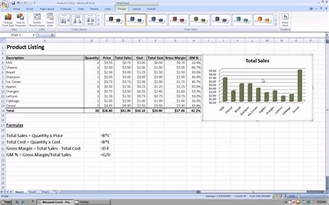 how to create a template in excel excel 2007 how to create a graph or chart using your