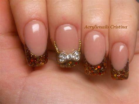 imagenes de uñas acrilicas bonitas 2015 acrylic nails u 241 as acr 237 licas francesa en glitter con tips