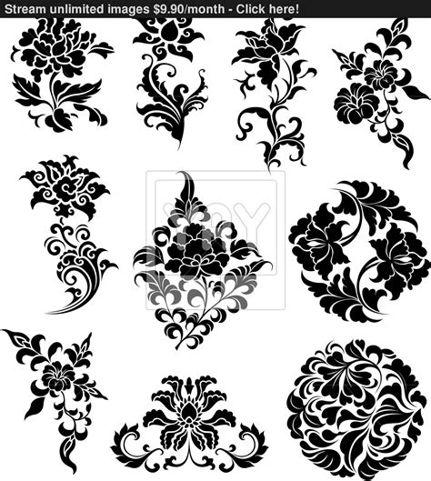 pattern vector design swirl corner pattern design vector yayimages com