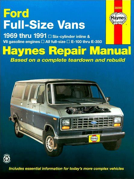 auto repair manual online 2001 ford econoline e250 on board diagnostic system ford econoline e100 e150 e250 e350 etc repair manual 1969 1991