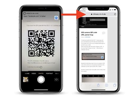 ios 11 qr code vulnerability in app could lead users to malicious websites macrumors