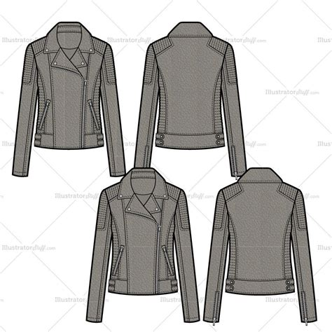 pattern leather illustrator leather moto jacket with trapunto stitch and waist tabs
