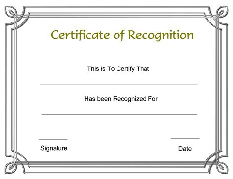 certificate word template certificate template powerpoint award word template