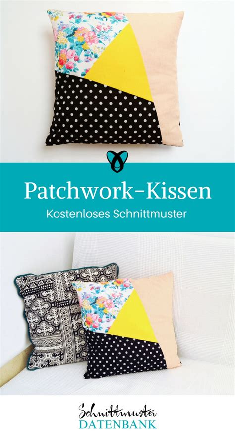 Patchwork Kissen Muster by Asymmetrisches Patchwork Kissen Schnittmuster Datenbank
