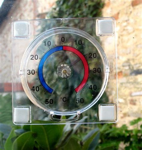 Temperature Inside House by Analogue Stick On Window Thermometer Read Outside