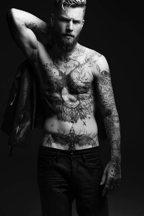 Keno Weidner Flaunts His Tattoos for Bowen Fall/Winter